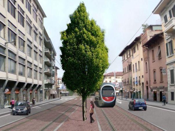 Progetto della Tramvia linea 3 in via dello Statuto