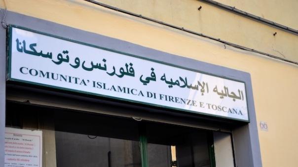 L'insegna della Comunita Islamica in Borgo Allegri a Firenze