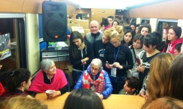 Treno della memoria, le sorelle Andra e Tatiana Bucci a colloquio con i ragazzi