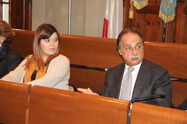 Il Sindaco Brenda Barnini e il Prefetto Luigi Varratta