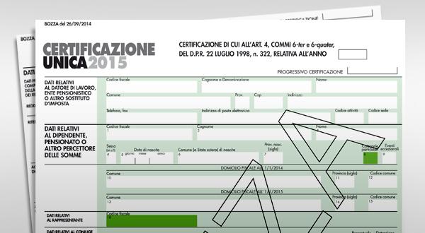 Il modello di certificazione unica 2015