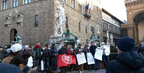 Protesta contro gli sfratti