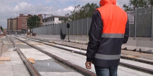 Tramvia: posati i binari a Novoli