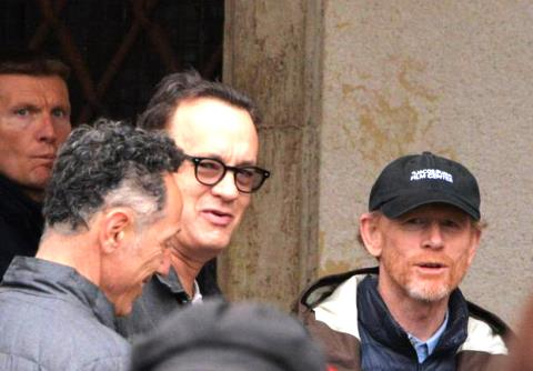 A Firenze le riprese di Inferno, al centro Tom Hanks e Ron Howard