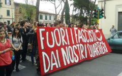 Firenze, 400 in corteo contro l'apertura di una libreria legata a Casapound