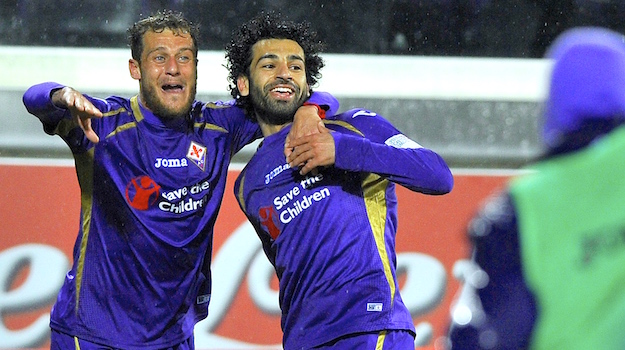 Diamanti e Salah, autori dei due gol della vittgoria viola conro la Sampdoria