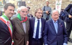 Firenze, 25 aprile. Il sottosegretario Luca Lotti: «Oggi è una festa per tutta l'Italia»