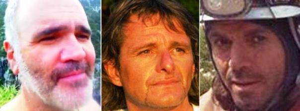 "Da sinistra Giovanni ""Nanni"" Pizzorni, Oskar Piazza e Giuseppe Antonini, tre dei quattro speleologi italiani dispersi in Nepal"