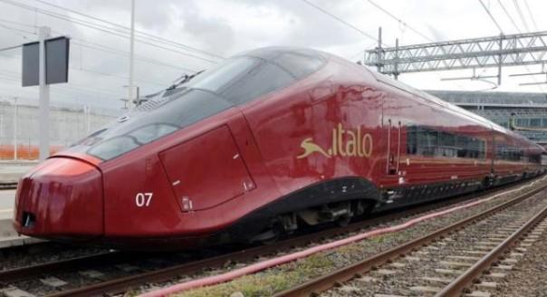 Uno dei treni Italo della società Ntv
