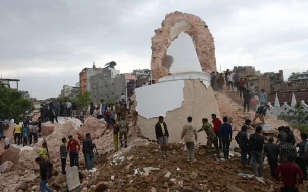 Distruzione a Kathmandu