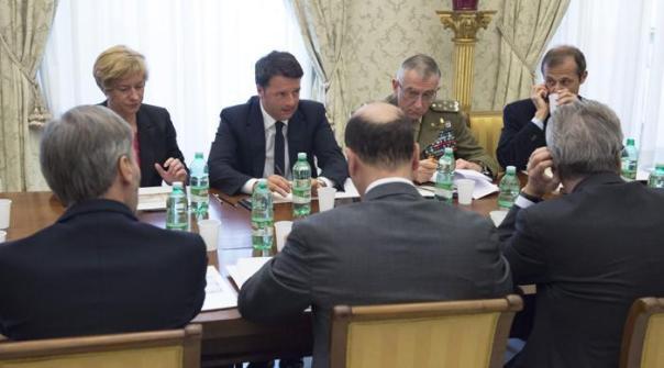 La riunione di Renzi con i Ministri
