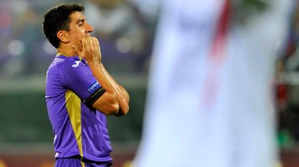 La rabbia di David Pizarro  alla fine del match con il Siviglia