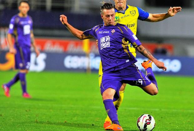 Fiorentina-Chievo, Bernardeschi (foto Giacomo Morini)