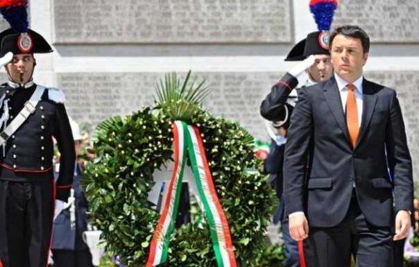 Matteo Renzi al cimitero dei Falciani per il Memorial Day