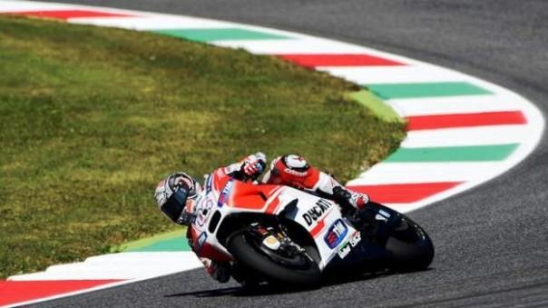 Mugello, Andrea Dovizioso su Ducati alle prove libere del Moto Gp