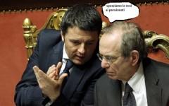 Renzi e il ministro Padoan