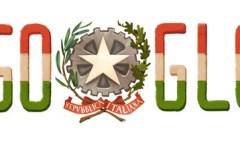 La festa della Repubblica italiana nel doodle di Google