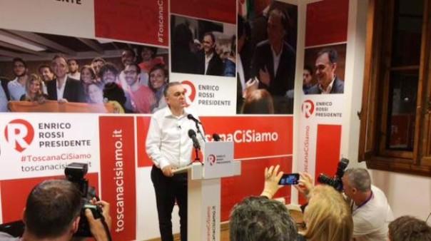 Enrico Rossi, riconfermato presidente della Regione al secondo mandato