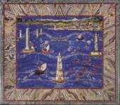 Cristofano Gaffuri , su modello di Jacopo Ligozzi, Tavolo con Veduta del porto di Livorno, Firenze, Galleria degli Uffizi
