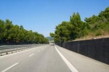 Un tratto dell'Aurelia in Toscana