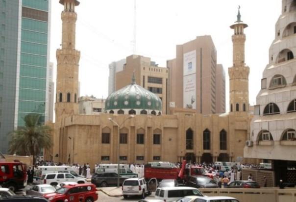 La moschea colpita