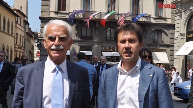 Massimo Messeri e il sindaco di Firenze Dario Nardella