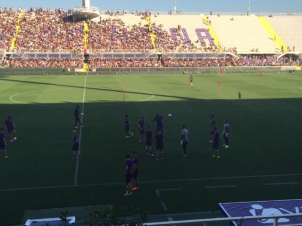 La Maratona quasi piena alla seduta della Fiorentina aperta al pubblico