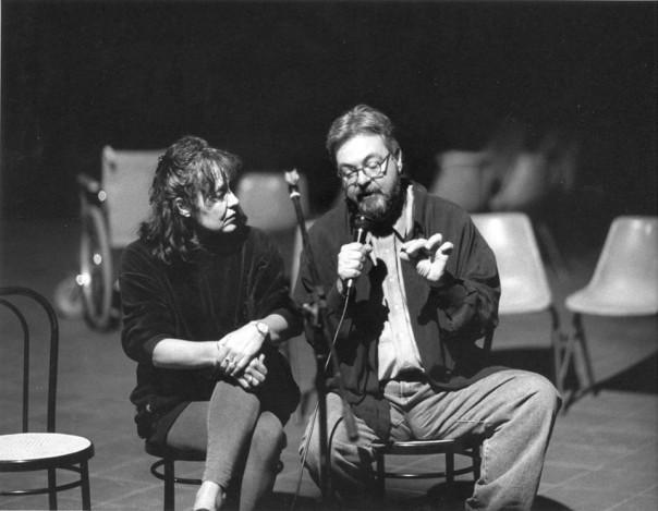 BarbaraNativi&MichelTremblayallaprimapresentazioneduranteIntercityMontréal1993