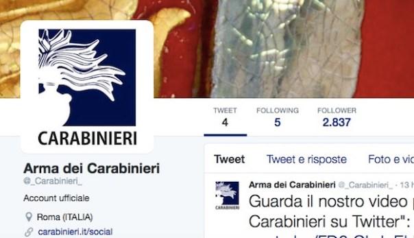 Carabinieri su Twitter