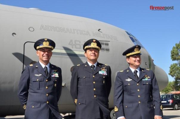 da sinistra i generali Roberto Boi, Maurizio Lodovisi, Achille Cazzaniga
