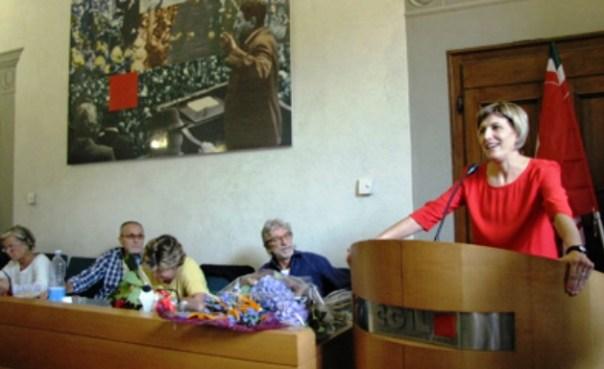 Paola Galgani, neo-segretaria generale della Camera del Lavoro di Firenze