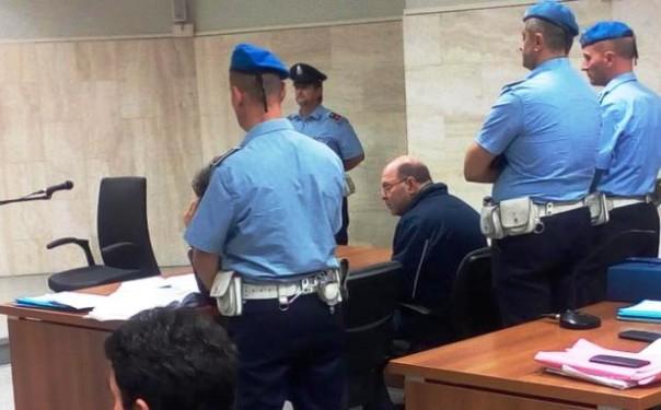 Riccardo Viti durante l'udienza del processo