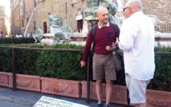 Firenze, s'incatena al Biancone per protesta