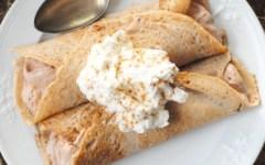 Crepes di farina di castagne con ripieno montebianco