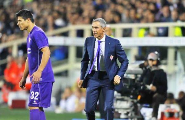 Fiorentina-Roma 1-2, Paulo Sousa visibilmente arrabbiato (foto Giacomo Morini)