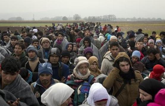 Migranti attraversano la Slovenia