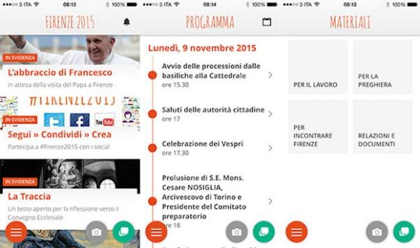 Il menù della nuova App