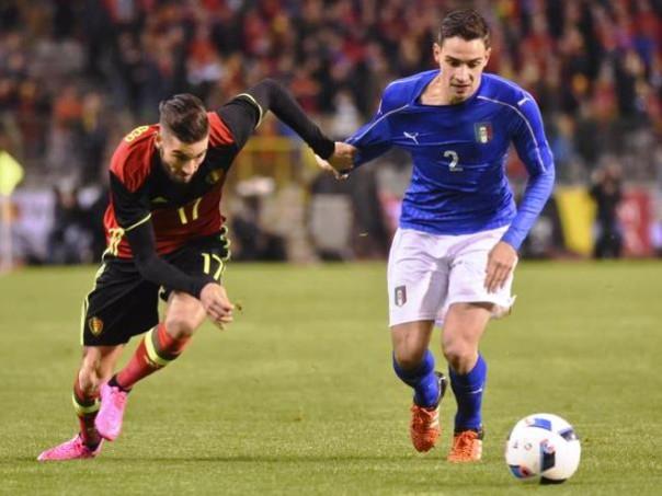 Belgio-Italia, Mattia De Sciglio in azione