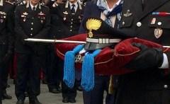 Gli onori alla salma del capitano dei carabinieri Alessandro Casario