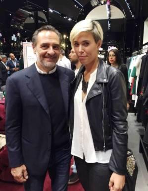 Giulia Mazzoni con Cesare Prandelli (dal profilo Facebook di Giulia)