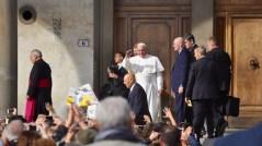 Il Papa in piazza della Santissima Annunziata a Firenze