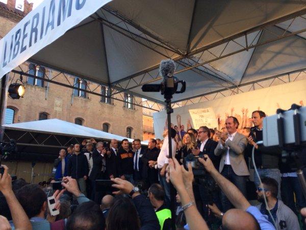 La manifestazione di Bologna