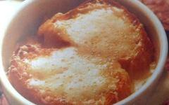 Zuppa di cipolle alla francese - Soup a l'oignon - Onion Soup