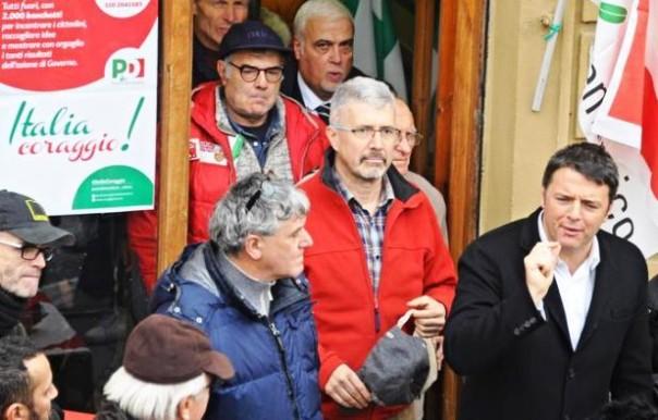 """Matteo Renzi a Rignano, dove ha aperto la campagna di tesseramento del Pd """"Italia coraggio!"""""""