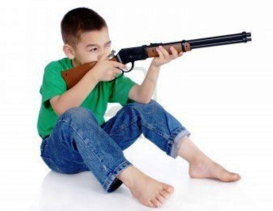 Un fucile giocattolo per i bambini