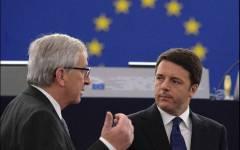 Patto di stabilità: Juncker all'Italia, rispettate le regole. Renzi risponde, non ci penso nemmeno