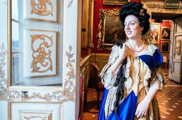 Il personaggio storico dell'Elettrice Palatina rivive a Palazzo Pitti (foto Twitter - @musefirenze)