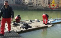 Canottieri Firenze: storico timone recuperato in Arno dai vigili del fuoco