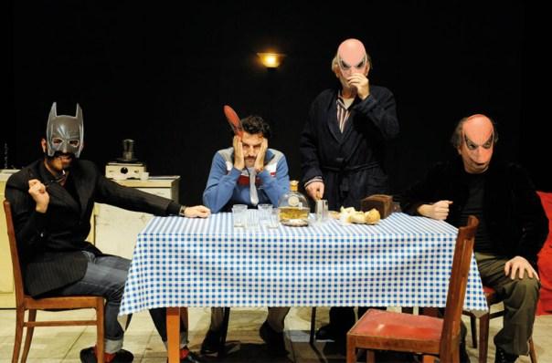 Tony Laudadio, Marcello Romolo, Luciano Saltarelli ed Enrico Ianniello in «I giocatori»