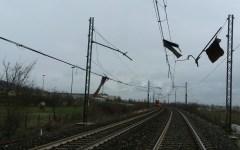 Arezzo, maltempo. Interrotta la ferrovia del Casentino per un violento temporale.